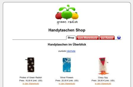 Green Radish Handytaschen Shop