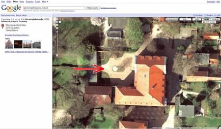 Google Maps hat einen Schatten, falschen Schatten